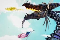 FoF - Sleeping Beauty (EverythingDisney) Tags: fire dragon mechanical flag disney parade disneyworld wdw waltdisneyworld magickingdom maleficent fof festivaloffantasy