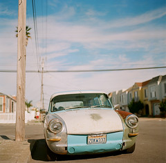 One of a kind (Robert Ogilvie) Tags: vw volkswagen foundinsf carportrait hasselblad501c gwsf kodakektar100
