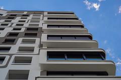 Perspective (*Capture the Moment*) Tags: building architecture modern skyscraper mnchen details architektur hochhaus alpenglhen