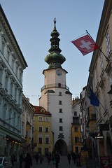 san miguel (crayones brillantes) Tags: street door city urban puerta walk capital explore sanmiguel stroll bratislava discover citygate eslovaquia slovaquia