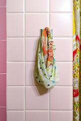 (130/366) Headband (CarusoPhoto) Tags: pink 6 color project john tile bathroom shower photo day pattern patterns curtain plus 365 caruso mundane banal headband ordinary iphone 366 carusophoto