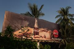 Myanmar // Mandalay - The Coca-Cola Tree (Christian Clowes) Tags: street summer nikon asia cola burma streetphotography sigma palm billboard palmtree myanmar cocacola d810