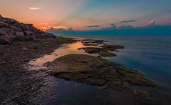 Rocky shore (Alec_Hickman) Tags: ocean light sea sun seascape canada beach water clouds landscape nikon dusk wideangle atlantic newbrunswick 1635 d810