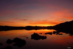 Srnit (phidel60) Tags: panorama reflection clouds landscape rouge eau lumire couleurs reflet ciel contraste paysage reflets coucherdesoleil rochers tang lueur ctes lueurs