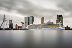Harmony Of The Seas (Ivo Kreber) Tags: travel cruise sky urban clouds port canon buildings photography rotterdam long exposure cityscape skyscrapers harmony cruiseship hotelnewyork seas 6d ndfilter canonef1740mmf4l royalcarbibean
