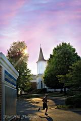 Holy run (Explore Girl2016) Tags: lighting pink sunset church canon runner sunstar marklll