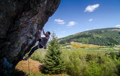 DSC_6284-2 (Fras333) Tags: rock climb countryside perthshire climbing rockclimbing strathyre schist sportclimb electrodynamics