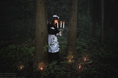 La virgulino en arbaro (TAKAGI.yukimasa1) Tags: portrait people woman cute girl beauty forest canon dark eos japanese cool fineart mysterious maid asiangirl 5dsr