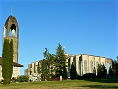 The Abbey Church (the mindful fox) Tags: moon church westminsterabbey cathedral belltower monastery mission sanctuary taiz fraservalley missionbc