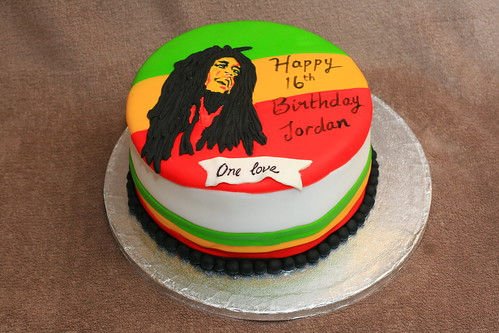 Wondrous Bob Marley Cake A Photo On Flickriver Personalised Birthday Cards Veneteletsinfo