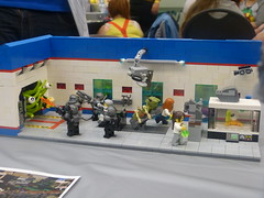 SLUG @ Otakupalooza 2016 (Saskatchewan Lego Users Group) Tags: lego slug 2016 otakupalooza space alien attack