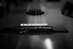 nylon (Chilanga Cement) Tags: blackandwhite bw music 6 fuji guitar strings xseries 6string x100 x100s x100t fujix100t