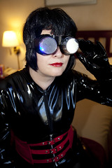 IMG_8526 (traveller-28) Tags: woman fetish shiny cosplay alien goggles gloves fantasy scifi corset catwoman catsuit pvc hypnosis mindcontrol superheroine blog24june2016