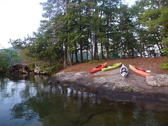 Island campsite (edenseekr) Tags: campsite camping turtleisland lakegeorgeny kayaks rockoutcrops