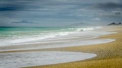 Toetoes Bay - nobody else here (Kathrin & Stefan) Tags: ocean sky cloud beach nature water bay outdoor wave pebble tasmansea foveauxstrait toetoesbay