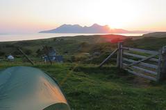 (Rodents rule) Tags: island scotland highlands tent rum campsite eigg eiggorganics