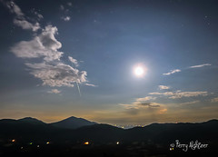 Meteor Over Peaks of Otter As The Moon Shines On (Terry Aldhizer) Tags: blue sky moon mountains night stars ridge terry otter peaks storms meteor aldhizer wwwterryaldhizercom