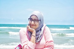 Shots of my sister at the beach. #beach #arab #muslim #moroccan #fashion (nadiabelakbir) Tags: beach fashion muslim arab moroccan