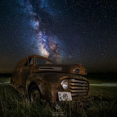Stardust and Rust (HomeGroenPhotography) Tags: instagramapp square squareformat uploaded:by=instagram milkyway astophotography abandoned stardustandrust stars starscape astroscape galacticcenter ford oldcar rusty aarongroen top best astrophotographer follow sick killer ultimate