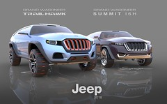 Jeep Grand Wagoneer Trailhawk and Summit I6H (Inline Six Hybrid) Trims by Marc Senger (interpolactic) Tags: road 3d jeep grand off full size marc alias concept rendering wagoneer senger trailhawk keyshot