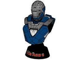 Iron Man Mark 30 (Mark XXX) Blue Steel Bust Free Papercraft Download (PapercraftSquare) Tags: ironman bust bluesteel mark30 markxxx