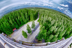 Kotaharjun nkalatorni (Tuomo Lindfors) Tags: suomi finland fisheye nktorni observationtower adjust restyle nkalatorni topazlabs sonkajrvi club16 kotaharju kotaharjunnkalatorni