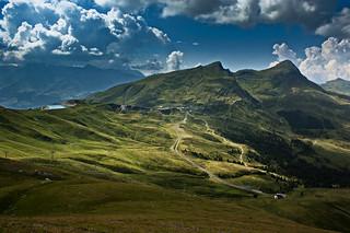 I am a rock. The Lauberhorn, the Mannlichen , the Kleine Scheidegg. A view from the Eiger Trail. No. 7856.