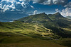 I am a rock. The Lauberhorn, the Mannlichen , the Kleine Scheidegg. A view from the Eiger Trail. No. 7856. (Izakigur) Tags: swiss suiza suisia suizo suïssa nikond700 nikkor2470f28 myswitzerland musictomyeyes thelittleprince thejungfrauregion izakigur helvetia lasuisse laventuresuisse liberty lauberhorn eiger eigertrail topf25 topf200 acqua eau wasser מים ماء