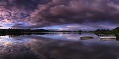 The Gathering (J McSporran) Tags: scotland trossachs lochlomondandtrossachsnationalpark lochrusky rusky dawn reflections boats rowingboat landscape canon6d ef1635mmf4lisusm