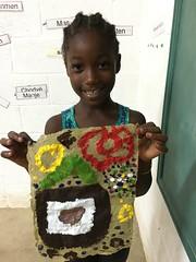 Fharah Meristil (8) (Haiti Partners) Tags: childrensacademy 2016 july haiti entrepreneurship socialbusiness artscrafts papermaking
