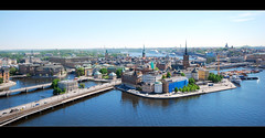 Stockholm Panorama (kalakeli) Tags: stockholm schweden sweden 2013 gamlastan oldtown stadshuset mlaren water city wasser stadt stockholmmarathon