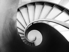 Desolation (Douguerreotype) Tags: monochrome abstract spiral buildings city bw uk geometry gb england british blackandwhite mono stairs architecture britain geometric london helix steps dark