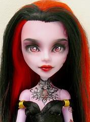 Make up et Tatouage (Antiphane) Tags: monster high doll poupe mattel full custo custom ooak operetta
