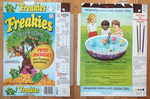 1977 Ralston Freakies Speedboat Cereal Box