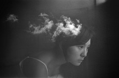 (moonowl7397) Tags: nikon fm3a film analog ruin girl 201608 ps 400vc doubleexposure