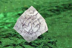 Block-face-one (De Rode Olifant) Tags: blockfaceone tessellation origami pattern paper paperfolding marjansmeijsters littleblocks blocks face