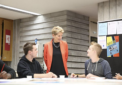 IMG_1791  Premier Kathleen Wynne met with students of the Art Centre at Central Technical School to discuss their access to post-secondary education. (Ontario Liberal Caucus) Tags: tuition education dong matthews toronto postsecondary school students classroom art