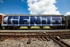 (o texano) Tags: houston texas graffiti trains freights bench benching genji roller wholecar rem mhc nfm