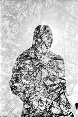 Francesca (Devon_Tyler) Tags: uk scotland edinburgh ae1 ilford film iso400 canon silhouette double exposure doubleexposure monochrome blackandwhite