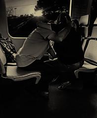 "Sunset kiss train (Jackie ""jubercar_78"" Gate) Tags: blancoynegro monocromtico streetphotography fotografaurbana cmarafv5 goldenhour horadorada"