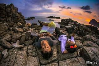 enjoy the sunset with samyang 8 mm