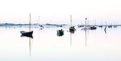 Sea Mist I (Solent Poster) Tags: green emsworth harbour hampshire uk september 2016 pentax k3ii 1685mm seascape landscape sunrise sunset boats yachts reflections calm tide tidal shore shoreline