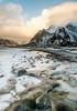 "Lofoten2016-15 (Federico ""Jäger"" Serafini) Tags: norvegia lofoten ghiaccio rocce rocks norway aurora boreale northern light clouds nuvole sea spiaggia long exposure"