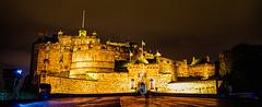 Edinburgh Castle from the Esplanade (Brian Travelling) Tags: edinburgh edinburghcastle esplanade castleesplanade edinburghcastleesplanade castlehill historic historicscotland stmargaretschapel 12thcentury architecture scotland night nightshoot pentaxkr travel