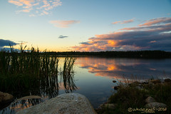 DOUBLE THE BEAUTY (Wade.J.) Tags: cobbs pond sunset dusk twilight evening calm mirror cloud beauty park rotary gander newfoundland tamron2875 wadejanes