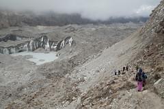 Crossing the Ngozumpa glacier (D A Scott) Tags: himalayas nepal asia mountains trekking everest base camp gokyo lakes trek