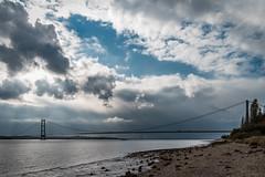 Humber Bridge (Robert Abram) Tags: humber bridge humberbridge hessle hessleforeshore suspensionbridge cloudburst sun sunshine river shingle