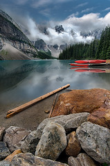 Postcard (Jeff Stamer (Firefallphotography.com)) Tags: banffnationalpark firefallphotography firefallphotographycom jeffstamer morainelake canada alberta reflections clearingstorm explore explored serene landscape