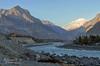 Gilgit River (Shehzaad Maroof Khan) Tags: autumn pakistan sunset snow mountains river landscape nikon peace hunza range gilgit hindukush ghizar gilgitbaltistan