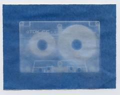 Cassette cyanotype (Jim Davies) Tags: blue shadow experimental alt cyan negative analogue cassette cyanotype rayogram shadowgram veebotique